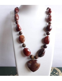 Natural Red Jasper Necklace...